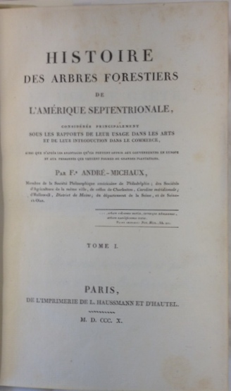 Title page Paris 1810 first volume of first edition